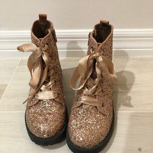 GAP Rose Gold Glitter Boots